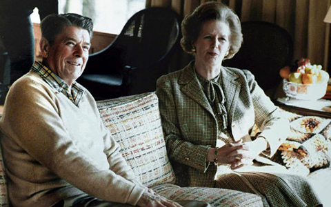 Reagan e Thatcher