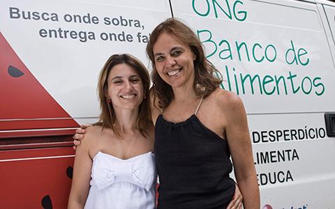 Isabel Marçal e Luciana Quintão do Banco de Alimentos