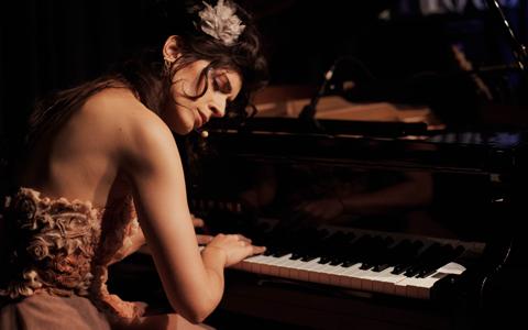 A talentosa pianista