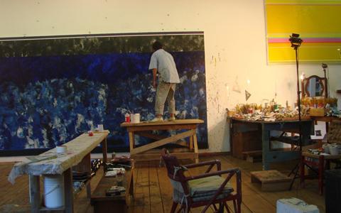 Em seu estúdio