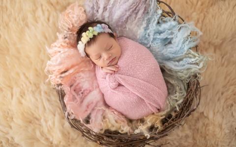 Bebê fotografado